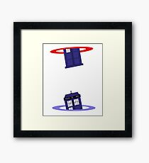 Police Box in a Portal. Framed Print