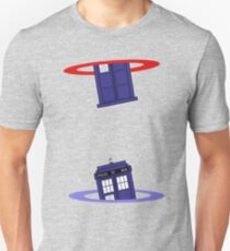 Police Box in a Portal. Slim Fit T-Shirt