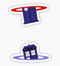 Police Box in a Portal. Sticker