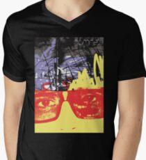 POP FACE 2 Mens V-Neck T-Shirt