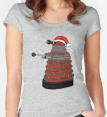 Festive Dalek. Women's Fitted Scoop T-Shirt