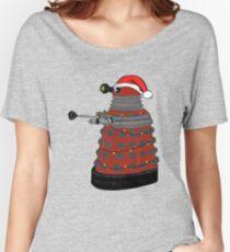 Festive Dalek. Women's Relaxed Fit T-Shirt
