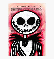 Jack Skellington Photographic Print