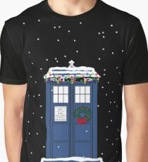 Festive Police Public Call Box. Graphic T-Shirt
