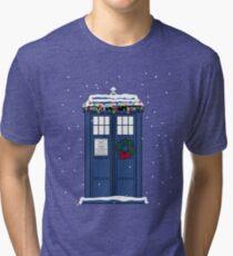 Festive Police Public Call Box. Tri-blend T-Shirt