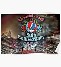 Grateful Dead 50th Anniversary  Poster
