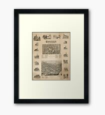 Panoramic Maps Circleville illustrated Framed Print