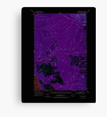 USGS Topo Map Washington State WA Macafee Hill 242118 1955 62500 Inverted Canvas Print