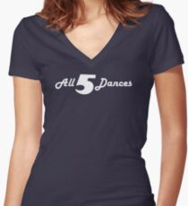 All 5 Dances Women's Fitted V-Neck T-Shirt