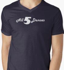 All 5 Dances Men's V-Neck T-Shirt