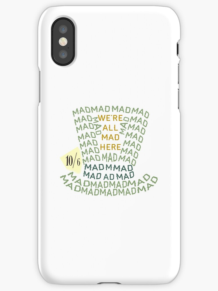 Mad Hatter iPhone Case by rebeccaariel