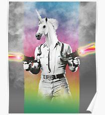 Badass Unicorn Poster