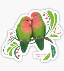 Peach Faced Lovebirds Sticker