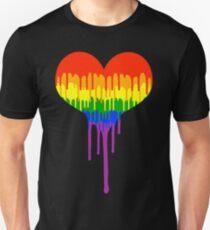 Gay Pride Drip Slim Fit T-Shirt
