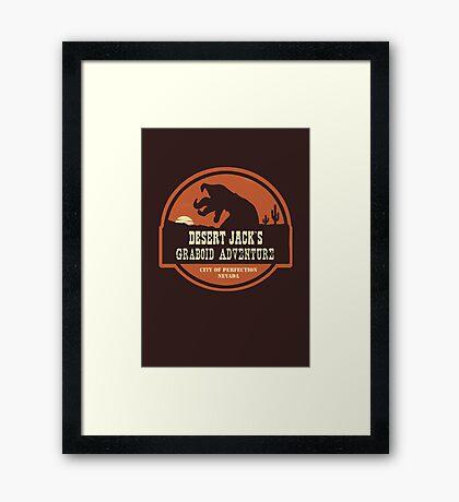 Desert Jack's Graboid Adventure logo Framed Print