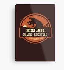 Desert Jack's Graboid Adventure logo Metal Print