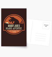 Desert Jack's Graboid Adventure logo Postcards