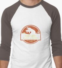 Desert Jack's Graboid Adventure logo Men's Baseball ¾ T-Shirt