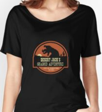 Desert Jack's Graboid Adventure logo Women's Relaxed Fit T-Shirt