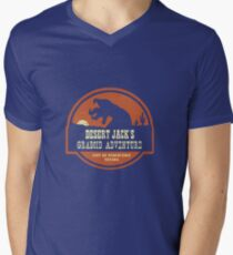 Desert Jack's Graboid Adventure logo Men's V-Neck T-Shirt