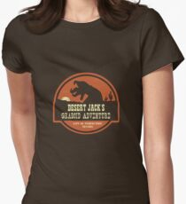 Desert Jack's Graboid Adventure logo Women's Fitted T-Shirt