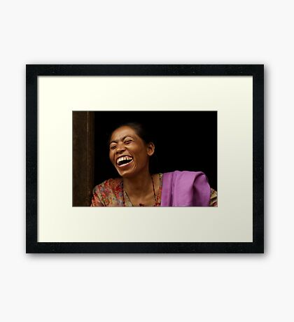 A Real Portrait Framed Print