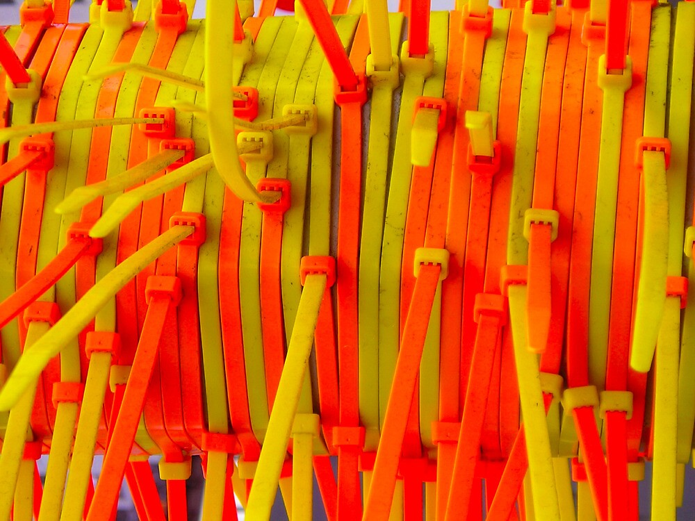 Orange and Yellow Tie Art by peterrobinsonjr