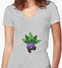 Oddish - Pokemon Women's Fitted V-Neck T-Shirt