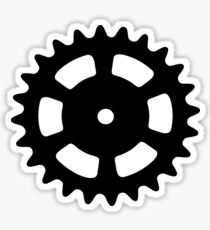 Cog and Roll Sticker