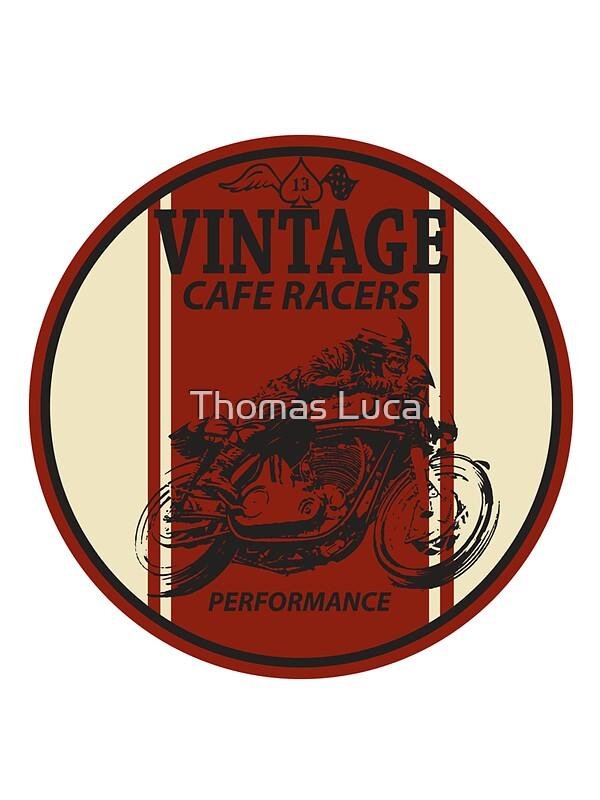 "vintage cafe racer"" stickersthomas luca   redbubble"