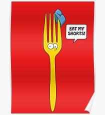 Eat My Shorts - Bart Simpson Poster