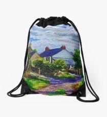 'A Turn on Town Lane,  Mullaghdubh, Islandmagee, County Antrim.' Drawstring Bag