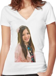 Ten year old girl Women's Fitted V-Neck T-Shirt