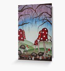 Mystical Mushrooms Greeting Card