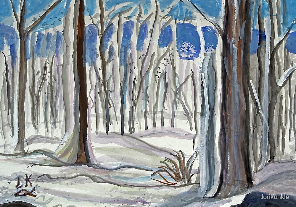 Snowy Woods By Lorikonkle Redbubble