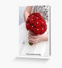 Bridal Bouquet ~ Red Roses  Greeting Card