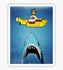 Jaws-Yellow Submarine  Sticker