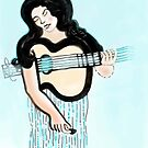 Guitar Muse by kathryn burke petrillo