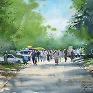 Summer day in Akadem by Sergei Kurbatov