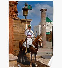 Morocco. Rabat. Guard at the Mausoleum of Mohammed V. Poster