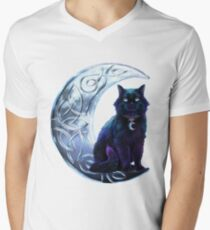 Celtic Black Cat Men's V-Neck T-Shirt
