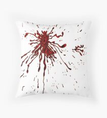 Blood & Bullet wounds Throw Pillow
