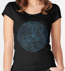 Wolf Celtic Knotwork Women's Fitted Scoop T-Shirt