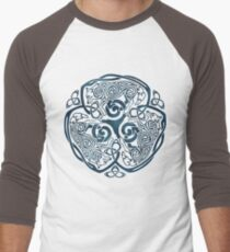 Wolf Celtic Knotwork Men's Baseball ¾ T-Shirt