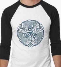 Wolf Celtic Knotwork Men's Baseball ¾ T-Shirt