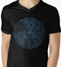 Wolf Celtic Knotwork Mens V-Neck T-Shirt