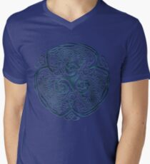 Wolf Celtic Knotwork Men's V-Neck T-Shirt