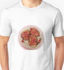 Potato pancakes with cheese and bacon ... Bon Appetit ! T-Shirt