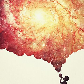 Das Universum in einer Seifenblase! (Awesome Space / Nebel / Galaxy Negative Space Artwork) von badbugs