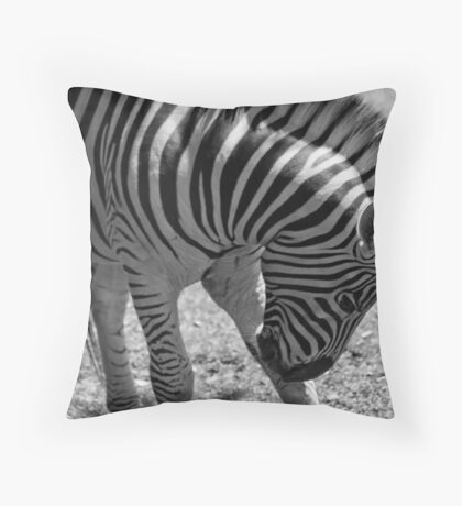 White and black all over me  Throw Pillow